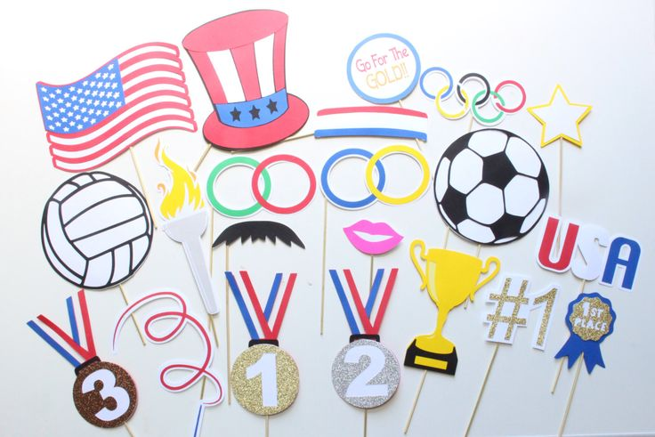 21 pc US Olympic Photo Booth Props/Olympics/Sports Photobooth Props by ThePartyGirlStudio on Etsy https://www.etsy.com/listing/492572874/21-pc-us-olympic-photo-booth