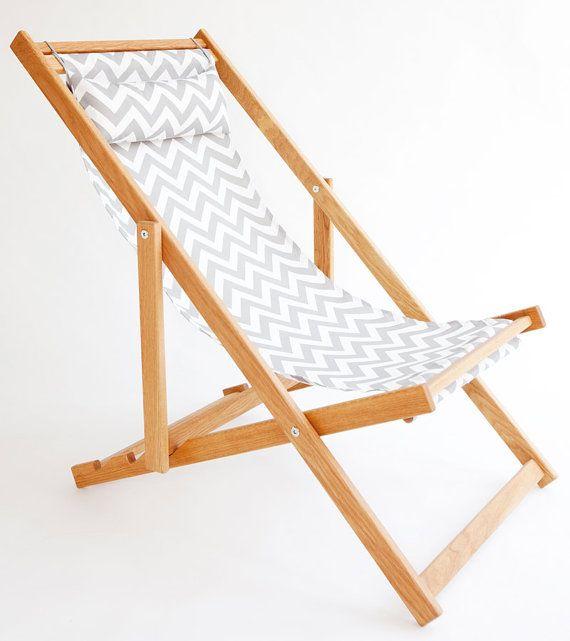Sandbanks Deck Chair sling chair handmade by gallantandjones, $288.00
