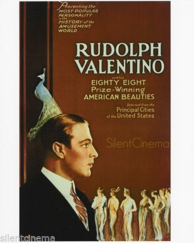 Details About Rudolph Valentino And His 88 Prize Winning American Beauties Movie Poster Photo