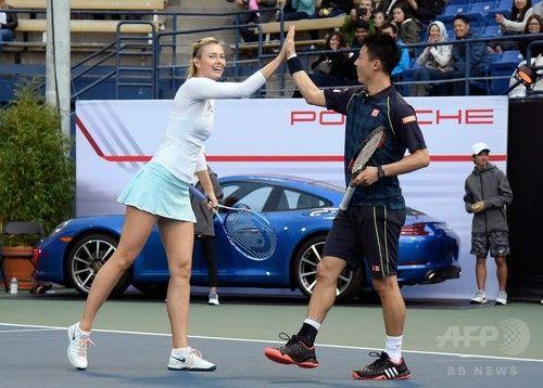 Maria Sharapova and Kei Nishikori