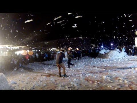 CONTOUR - Breaking the World Record for Largest Snowball Fight - This would be so much fun!