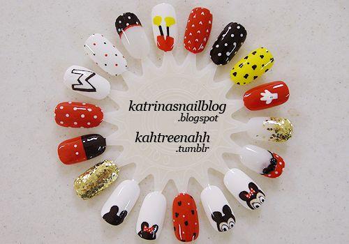 disney nails: Mini Mouse, Builder Nails, Manicured Nails, Fingernail Art, Art Theme, Disney Nails, Mickey Nails, Mickey Mouse Nails