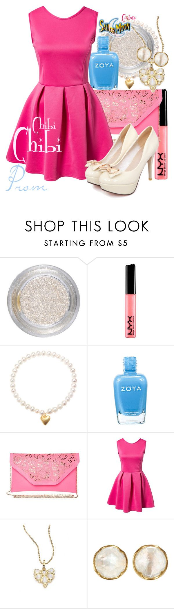 """ChibiChibi"" by sailormooncloset ❤ liked on Polyvore featuring Barry M, NYX, Satya Jewelry, Zoya, Molly Bracken, Oneness, Temple St. Clair and Cathy Waterman"