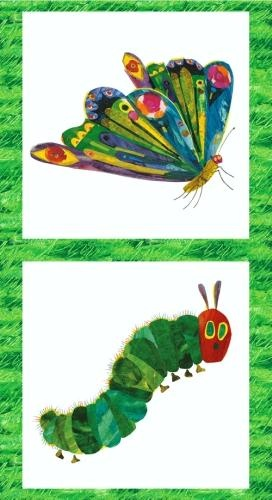 Hungry Caterpillar quilting line. Beautiful, vibrant colours.