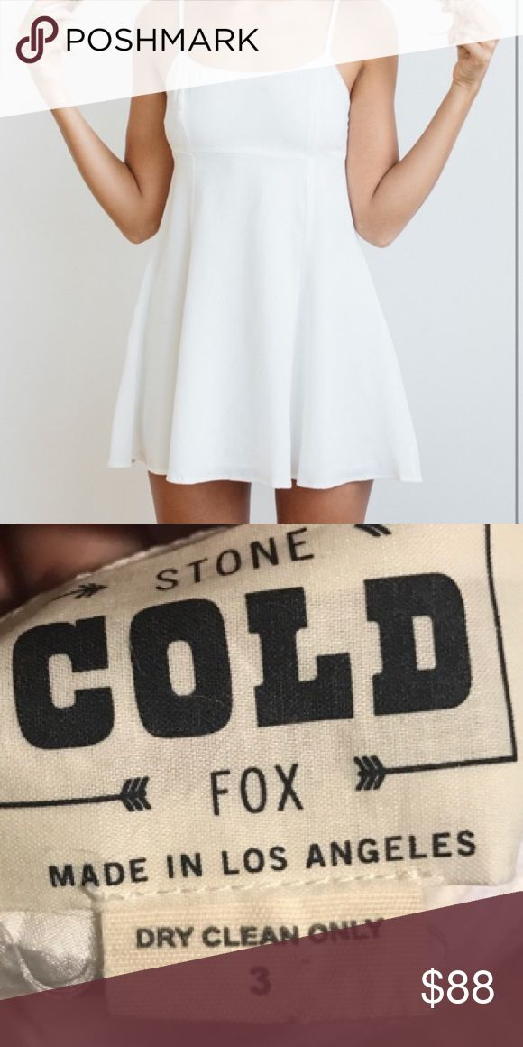 💋STONE COLD FOX WHITE DRESS💋 💋STONE COLD FOX 🦊 LIKE NEW! SIMPLY PERFECT WHITE SUMMER DRESS! I LOVE LTHIS CLEAN & FRESH MINI. IT'S SO CUTE ON AND IT'S ONLY BEEN WORN ONCE. THE CUT IS VERY FLATTERING AND MAKES A BEAUTIFUL CANVAS TO Stone Cold Fox Dresses Mini