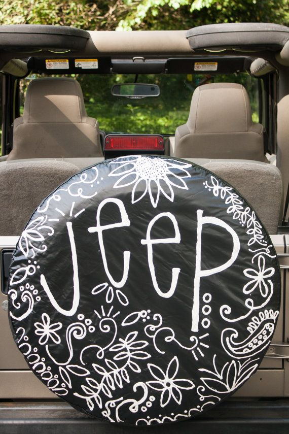 Custom Jeep Wheel Cover by emkatedesigns on Etsy