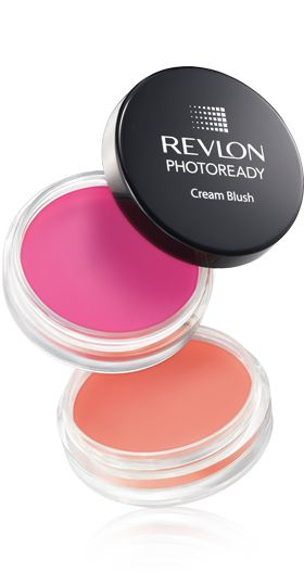 Like this spring's hot pink or coral trend? Smooth a creamy blush on your cheeks for a sheer wash of color. Revlon Photography cream blush in Flushed and Coral Reef; $13 at CVS