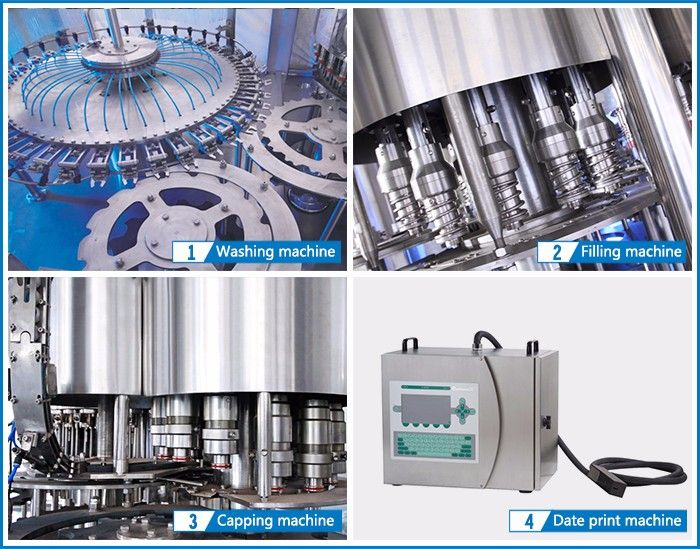 Bottle Washing Filling And Capping Carbonated Drink Filling Machine Packaging Machine Bottle Juice Packaging