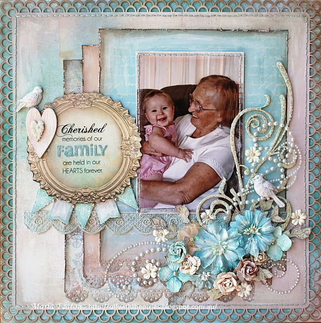 Cherished Memories of Our Family Are Held In Our Hearts Forever ~ gorgeous 3D details!