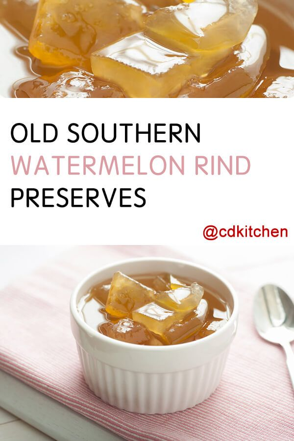 Made with watermelon rind, sugar, lemon, allspice | CDKitchen.com