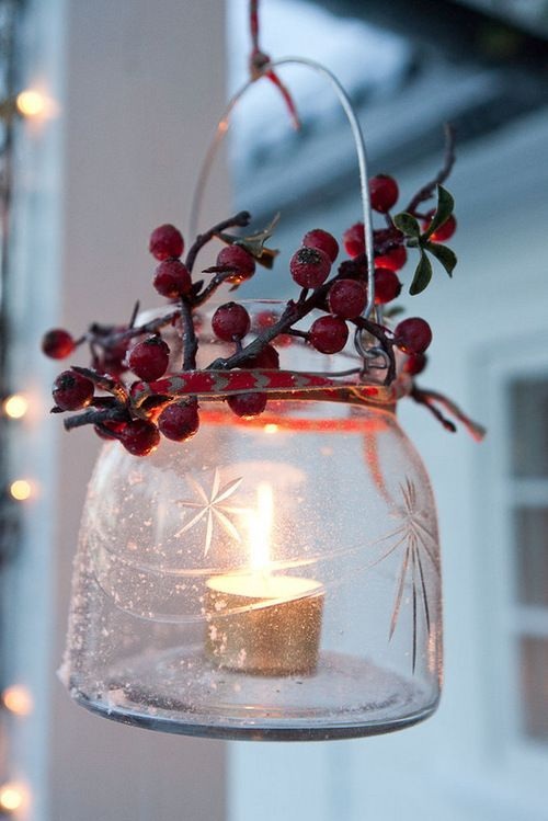 Christmas candles idea