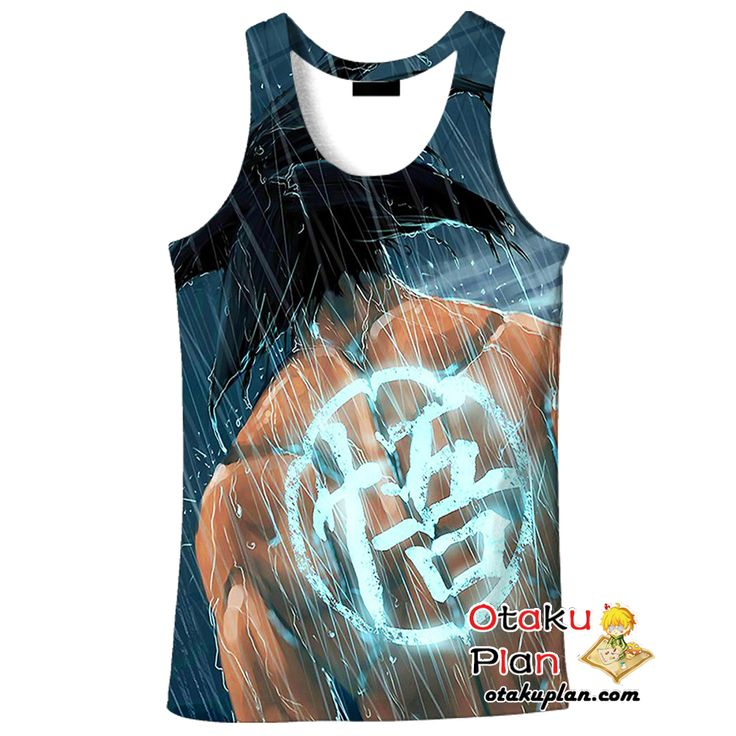 DBZ Goku Marshal Arts Symbol Black Tank Top - Dragon Ball Z 3D Tank Tops And Clothing  #merchandise #anime #animeboy #animelover #animeart #comic #stuff