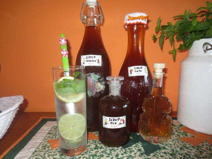MÁTOVÝ A MEDUŇKOVÝ SIRUP Na jeden litr vody je 1kg cukru (můžem dát hnědý),1pokrájený citron nebo limetku,z 1 citronu šťávu,2 lžičky kyseliny citronové a 3 hrstě omytých lístků máty nebo meduňky.Lístky otrháme a vypereme. Vodu si převaříme a do vychladlé vody namočíme lístky s pokrájeným citronem,šťávou z citronu,kyselinou na 24 hodin. Pak vybereme lístky a přecedíme přez plátýnko. Přidáme cukr a povaříme tak 2 minuty. Vychladlé dáme do sklenic. Výborné do vody, do čaje a do míchaných…