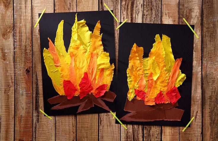 Bastelidee für den Feuerwehrgeburtstag. Umsetzung und Foto: Thordis Rüggeberg