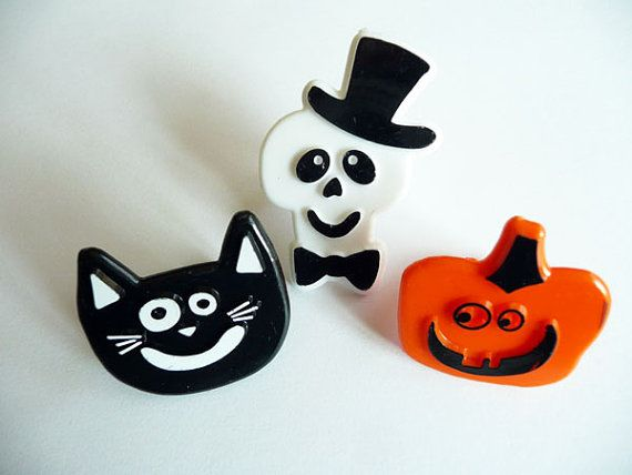 24 Halloween Happy Face Cupcake Rings Cat by CakeAndCandyDreams