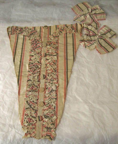 stomacher & bow  1770-1780