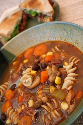 tex mex chicken and rotini soup