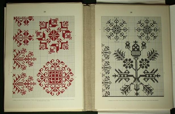 Romanian folk embroidery pattern3. - Saxon costume linen