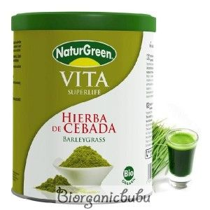 Naturgreen Pulbere de Iarba de Orz Verde Incoltit Bio, 200 g