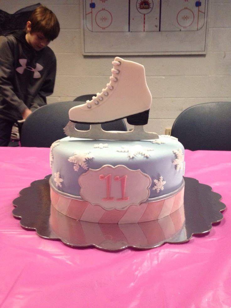 Ice skating cake - a