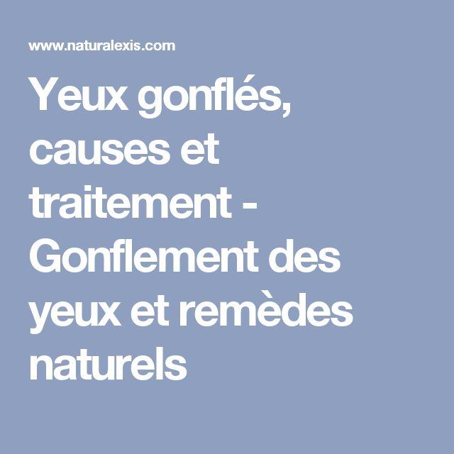 Yeux gonflés, causes et traitement - Gonflement des yeux et remèdes naturels