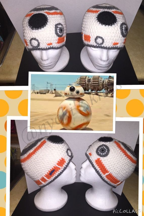 Star Wars BB-8 Droid hat by nyckisknits on Etsy