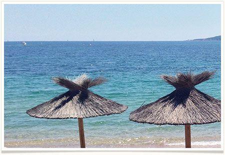 Photo de la plage de Benedettu à proximité du Camping La Vetta à Porto-Vecchio en Corse du Sud.