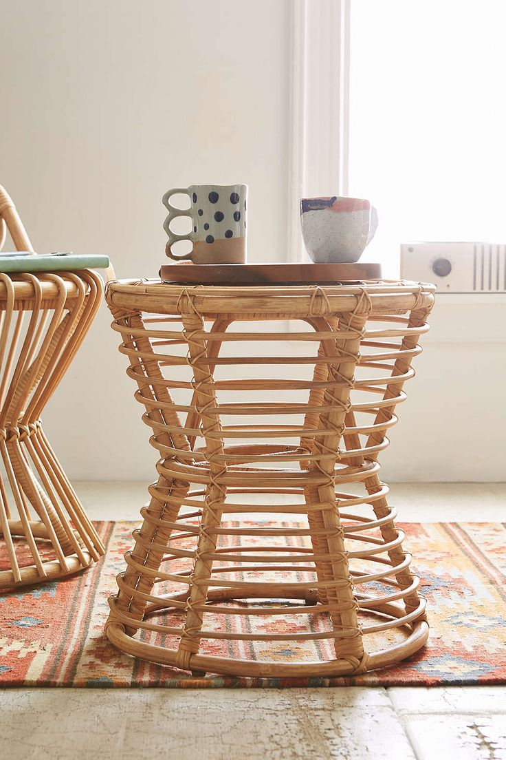 Cane Patio Chairs Parsons Chair Slipcovers Magical Thinking Luna Rattan Side Table | #uohome Pinterest Thinking, And ...