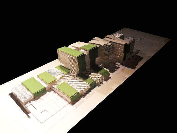 Estudio de sombras Heliodón Laboratorio de bioclimatica Universidad Central de Chile. Modelo Esc 1/500.