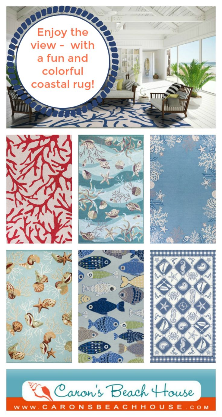 At Caronu0027s Beach House, We Have Curated A Large Collection Of Coastal  Living, Nautical, Beach, And Tropical Style Rugs That We Know You Will Like!