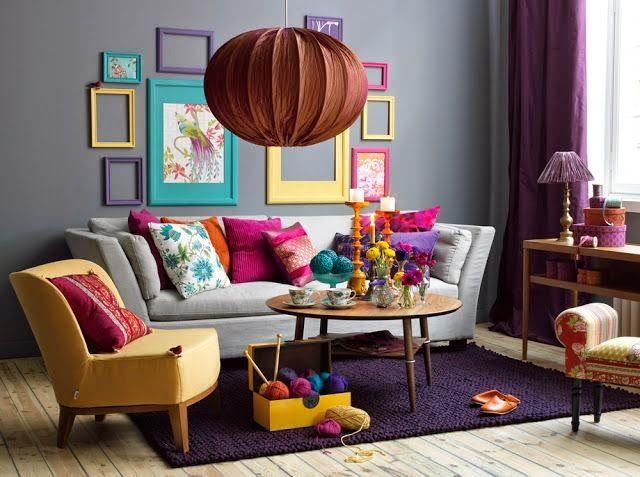 Casinha colorida: Vintage: sala de estar