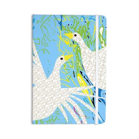 "Pattern Muse ""Pond Birds"" Blue White Everything Notebook - KESS InHouse"