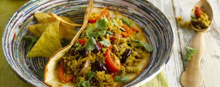 Amanprana Recepten – lekker en gezond – biologische & vegetarische Mexicaanse stoofschotel. Met Amanprana rode palmolie, Bertyn seitan en nog veel meer lekkers...