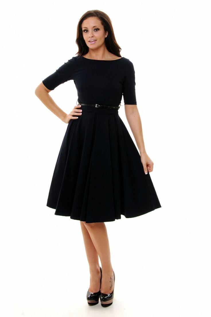 So Couture - Black Hepburn Full Circle 50s retro shift dress . Zo'n jurk kun je in 2080 ook nog dragen, want deze beauty is tijdloos! I like!!!  ♥♥ #topvintage