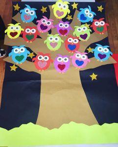owl bulletin board idea