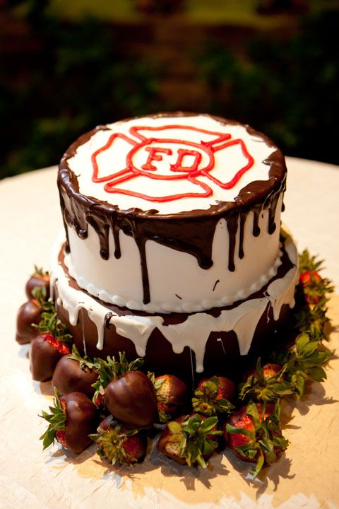 Elegant Fire Department Cake | Shared by LION