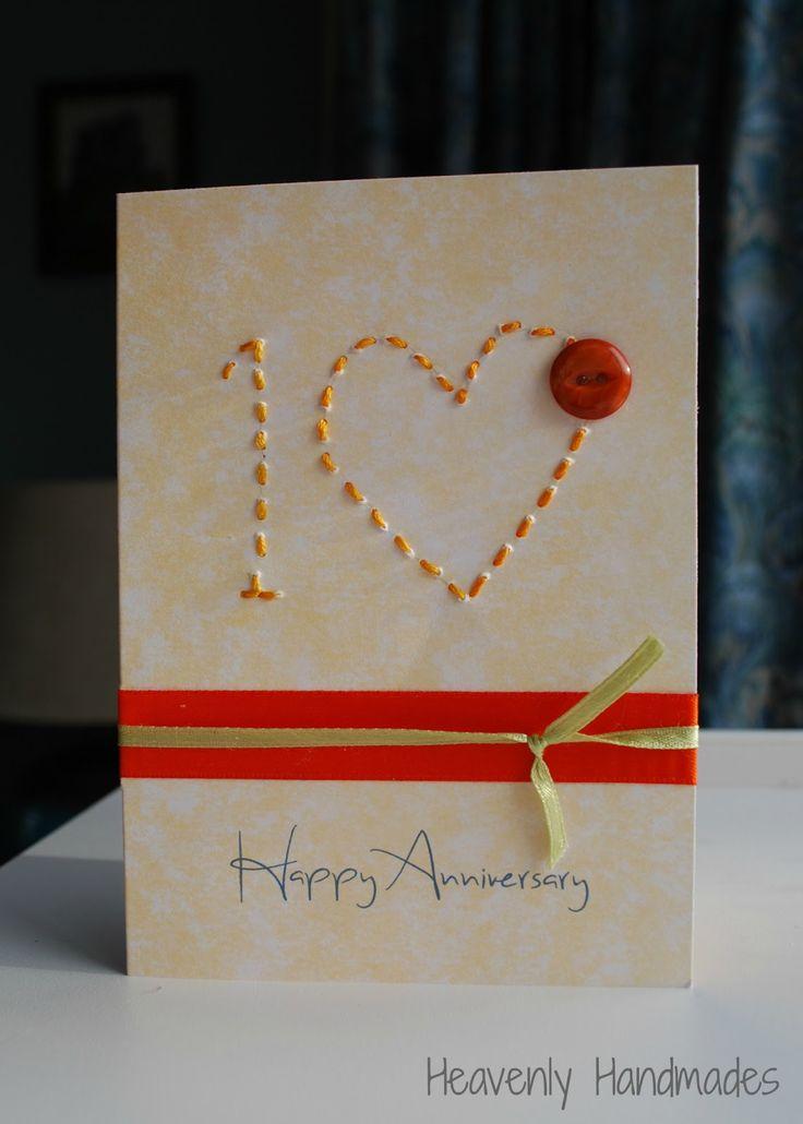 Heavenly Handmades: Simple 10th Anniversary Card