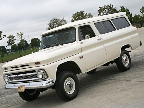 1966 Suburban.   Looks way different than the suburban we used to have!