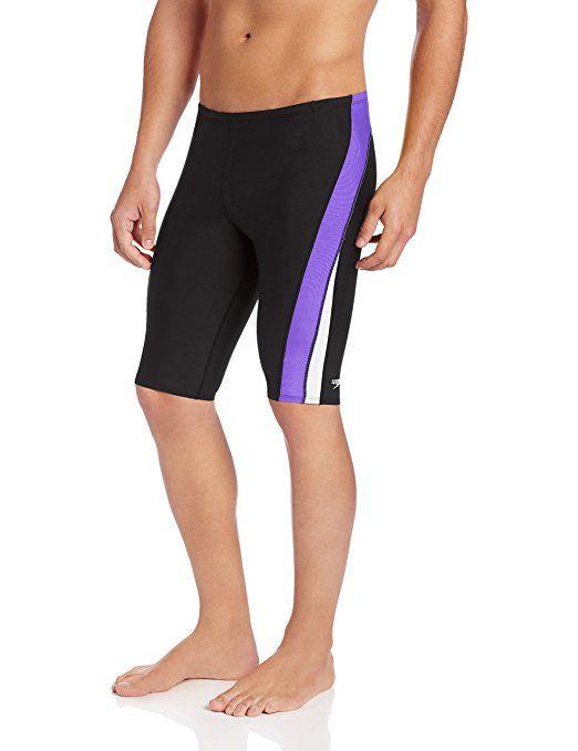 35086b794c848 Amazon.com : Speedo Men's Endurance+ Launch Splice Jammer Swimsuit :  Athletic Swim Jammers :