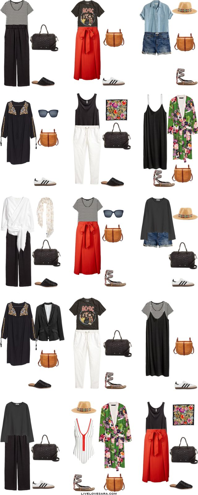 What to Wear in Sydney Australia Packing Light List Outfit Options 1-15 #packinglist #packinglight #travellight #travel #livelovesara