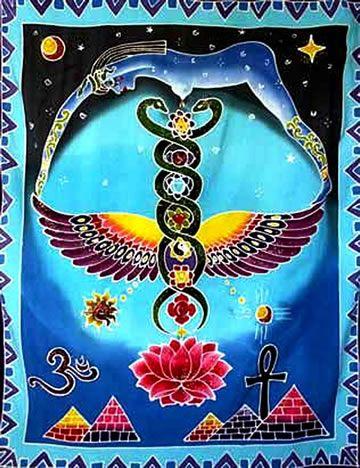 nuit-caduceus-chakras art egyptian lotus