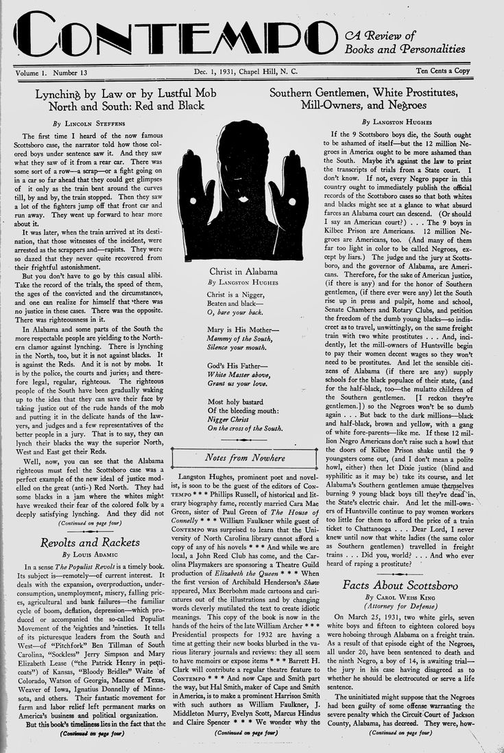 Langston Hughes - Scottsboro Boys - Christ in Alabama