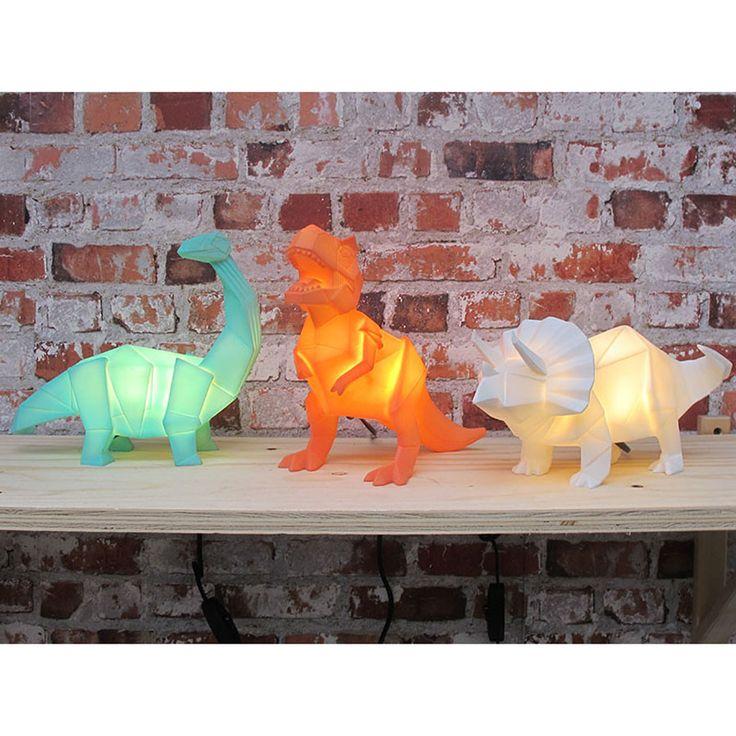 Lamp . Origami Dino - Brachiosaurus / Mint Green