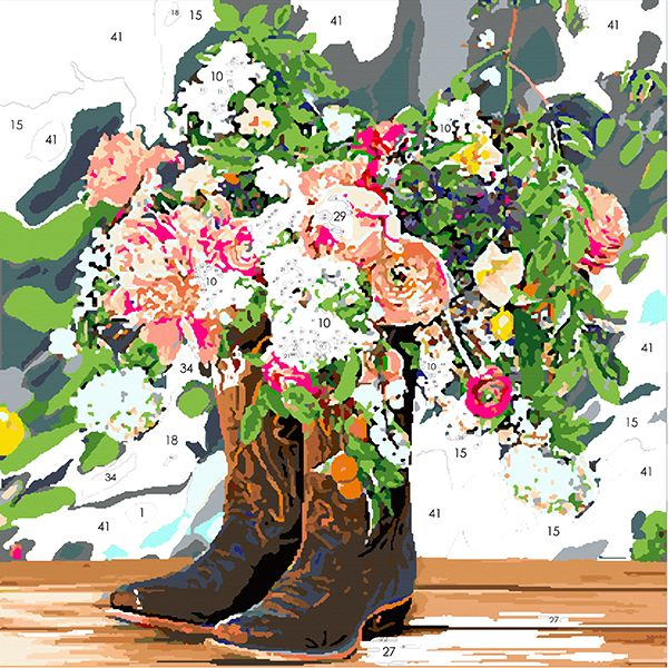 Blooming Boots From The Country Living Magazine Collection