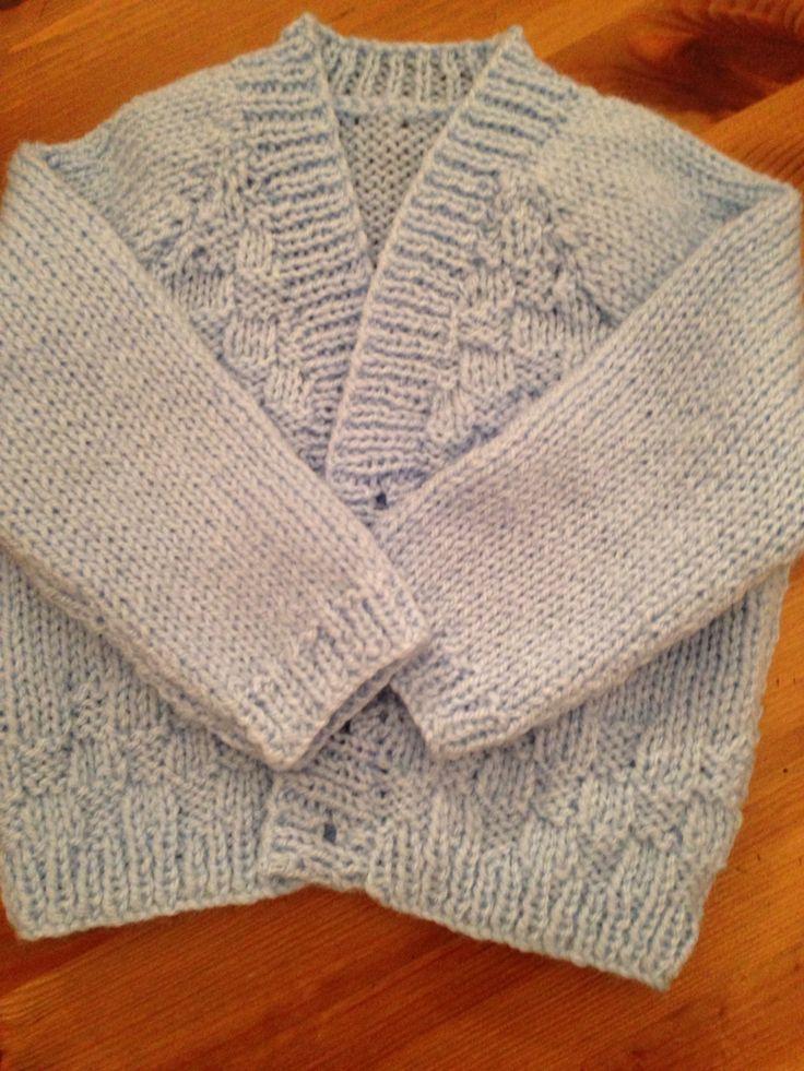 Basket pattern cardigan