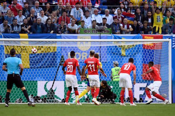 Switzerland S Goalkeeper Yann Sommer Reacts As Sweden Score A Goal
