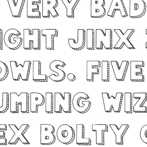 SNF Sketch Block - Font