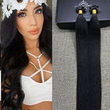 22 best human hair extensions images on pinterest human hair full shine keratin u tip brazilian human hair extensions color off black straight 100 real human hair extensions womens clothes jewelry shoes and more pmusecretfo Gallery