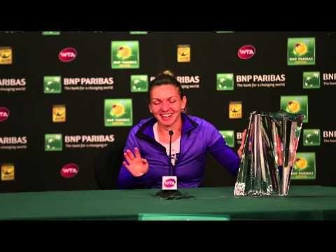 Moment amuzant dupa finala de la Indian Wells. Reactia Simonei Halep cand a incercat sa ridice trofeul