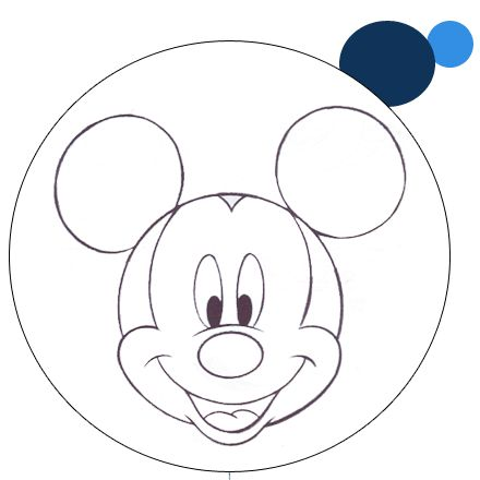 Mouse Mickey Template Birthday Cake Tattoo